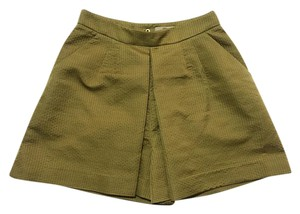 Orla Kiely High Waisted Retro London Shorts Ochre