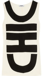 Moschino Silk Top Ivory & Black