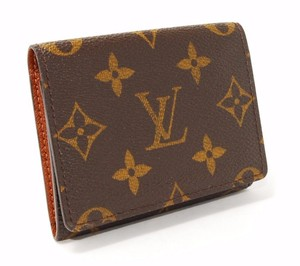 Louis Vuitton Monogram Business Card Holder Bi Fold Credit Wallet Pristine Condition