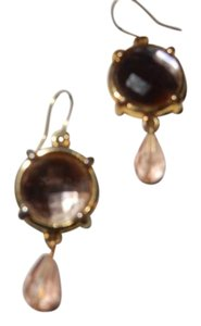 Code Vintage very vintage morganite colored crystal earrings,1955