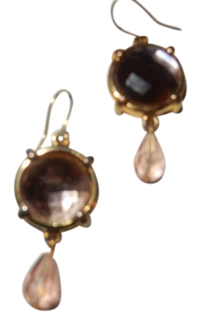 Item - Morganite Color Very Colored Crystal 1955 Earrings