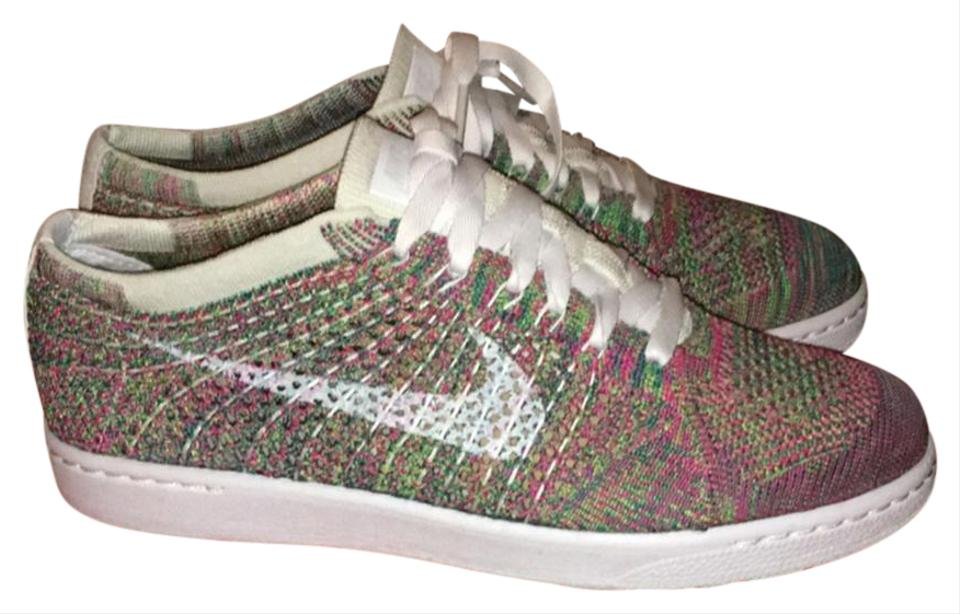 a05a4939bb96e Nike White - Radiant Emerald Women s Tennis Classic Ultra Flyknit Sneakers  Sneakers