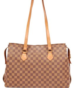 Louis Vuitton Monogram Damier Canvas Tote in Brown