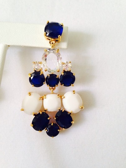 Amrita Singh South Hampton Faceted Navy/White Chandelier Earrings