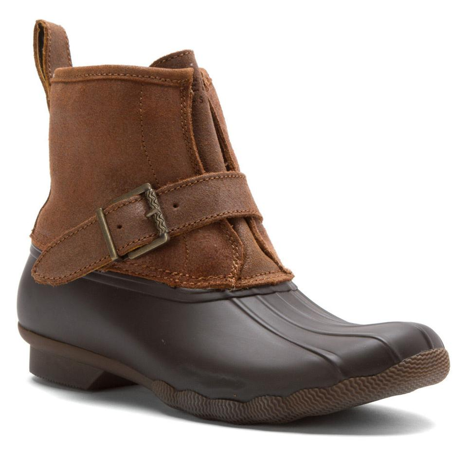fb9f38504676 Sperry Topsider Womens Rip Duck Boots Booties Leather - Tradesy
