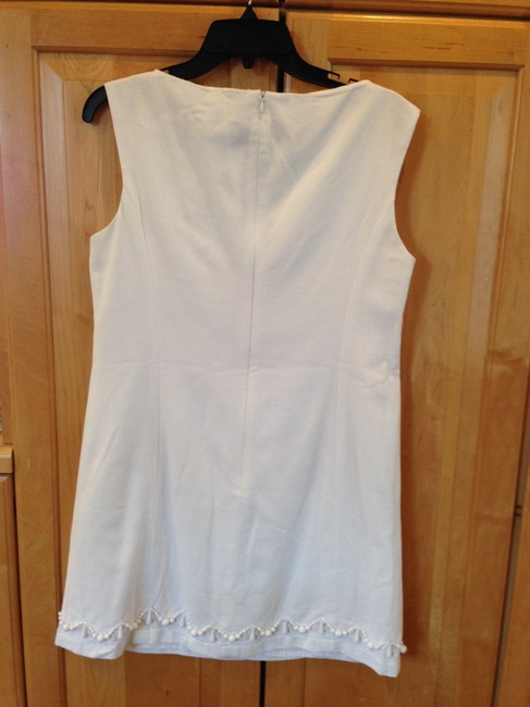 Nanette Lepore short dress White Shift Pique Beaded on Tradesy
