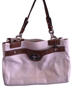 Coach Satchel in white & brown