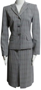Travis Ayers New TRAVIS AYERS Black & White Plaid LIned Skirt Suit 6