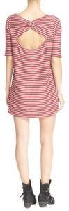 Free People short dress Red Combo Strip Tee on Tradesy