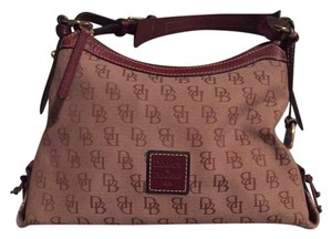 Dooney & Bourke Satchel in Madison Signature Amber