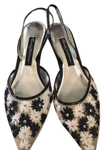 Beverly Feldman Black and White Pumps