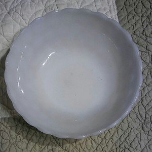 Bubble Milk Glass Bowl