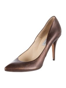 Jimmy Choo Metallic 9 Bronze Pumps