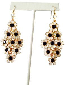 Amrita Singh Rose Garden Black/White Chandelier Earrings