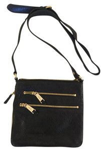 Cole Haan Leather Gold Hardware Cross Body Bag
