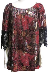 Voom by Joy Han Velvet Lacy New Large Sweater