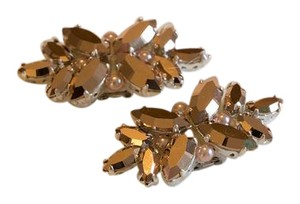 Laurel Lime Rose Gold Shoe Clips