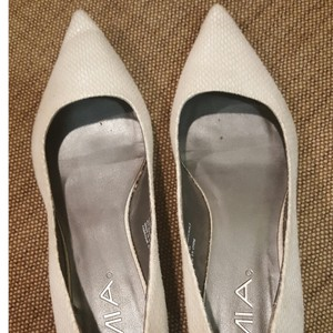 MIA Cream Kitten Heel Wedding Shoes