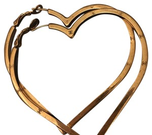 Chanel Chanel vintage large heart hoops with box and tag