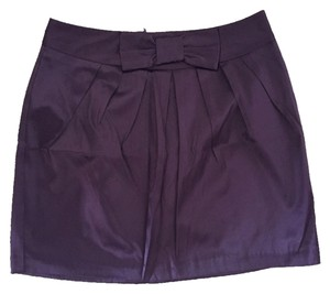 Forever 21 Silk Bow Mini Skirt Purple