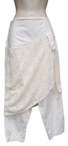 Z. Cavaricci Boho Vintage Lae Skirt Capri/Cropped Pants Cream