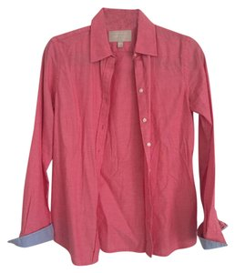 Banana Republic Oxford Button Down Shirt Pink/Coral and light blue