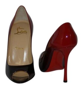 Christian Louboutin Brand New In Box BLACK/ RED Pumps
