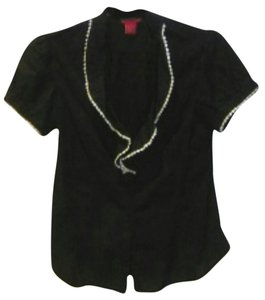 Sunny Leigh Button Down Shirt Black and white