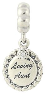 PANDORA Pandora Dangle Charm 791277cz Loving Aunt Clear Cz Sterling Silver Engravable