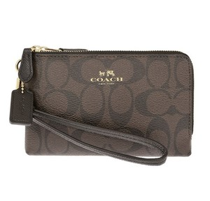 Coach Wristlet in Black/Brown