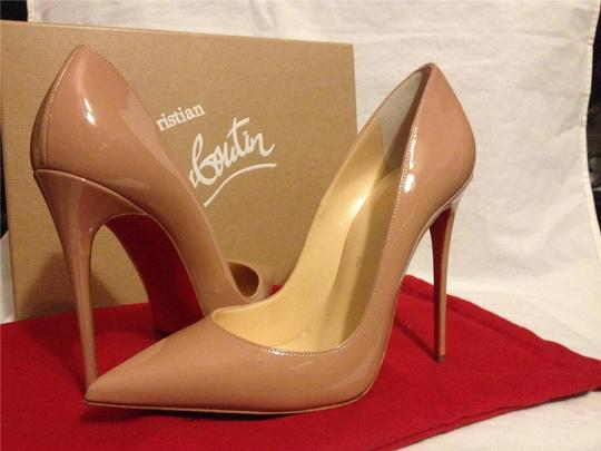 Christian Louboutin Heels Stiletto So Kate Patent nude Pumps Image 4
