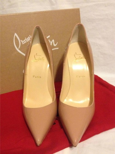 Christian Louboutin Heels Stiletto So Kate Patent nude Pumps Image 5