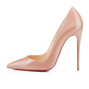 Christian Louboutin Heels Stiletto So Kate Patent Nude Black Pumps