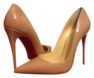 Christian Louboutin Heels Stiletto So Kate Patent Nude Pumps
