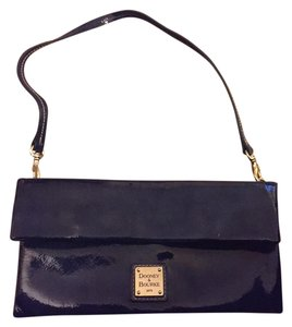 Dooney & Bourke Removable Strap Blue Clutch