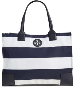 Tory Burch Packable Ella Nwt Ella Britten Tote in Navy Bar Stripe
