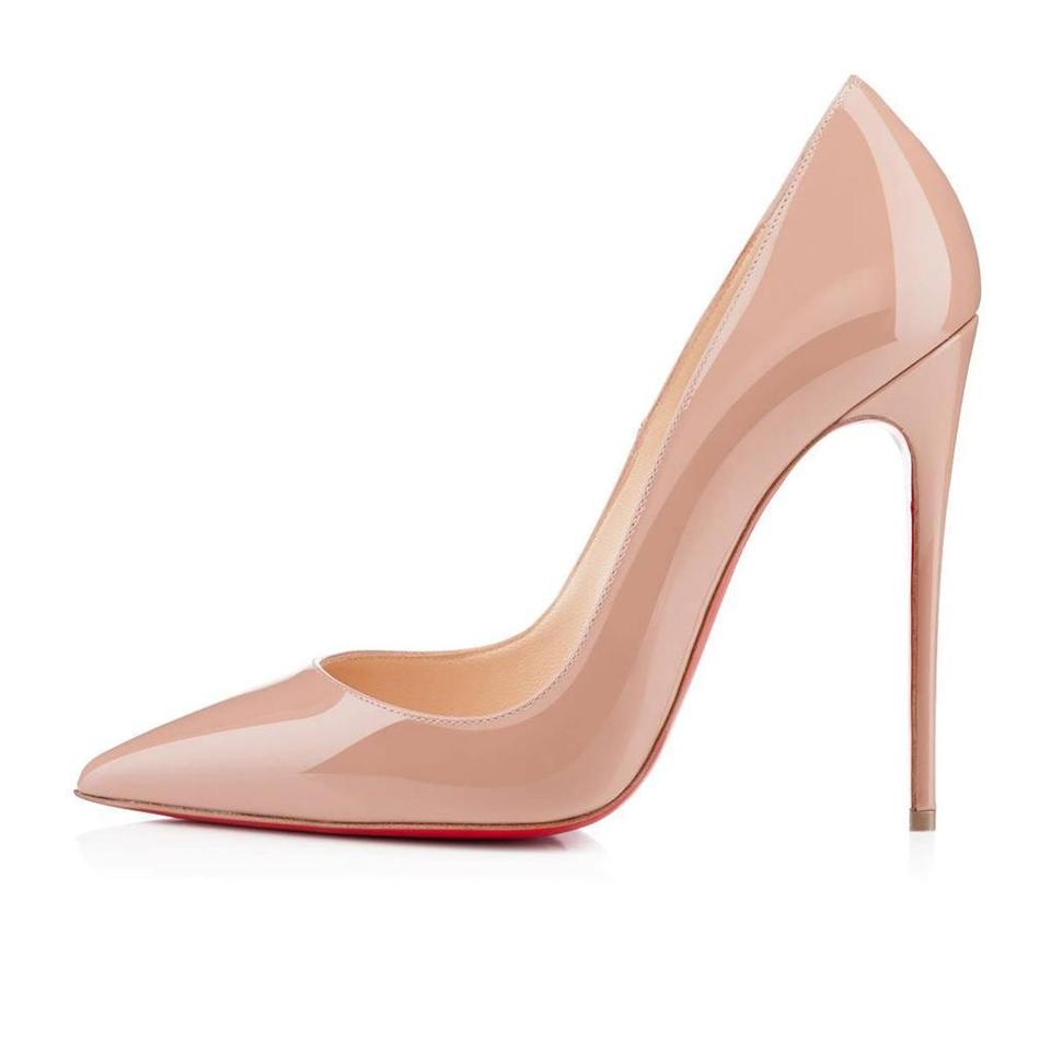 201482038 Christian Louboutin Heels Stiletto So Kate Patent Nude Pumps Image 0 ...