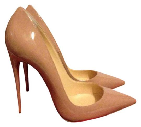 Christian Louboutin Heels Stiletto So Kate Patent Nude Pumps Image 1