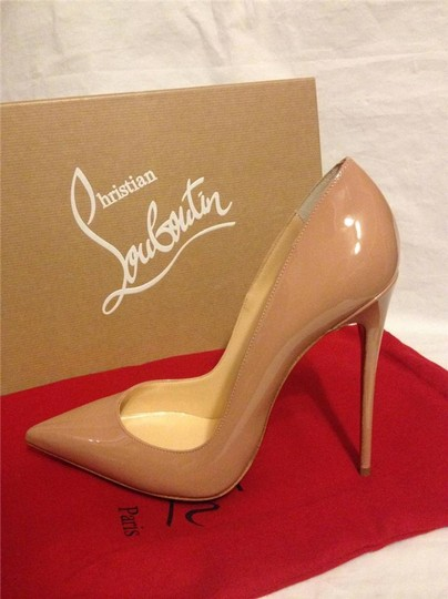 Christian Louboutin Heels Stiletto So Kate Patent Nude Pumps Image 2