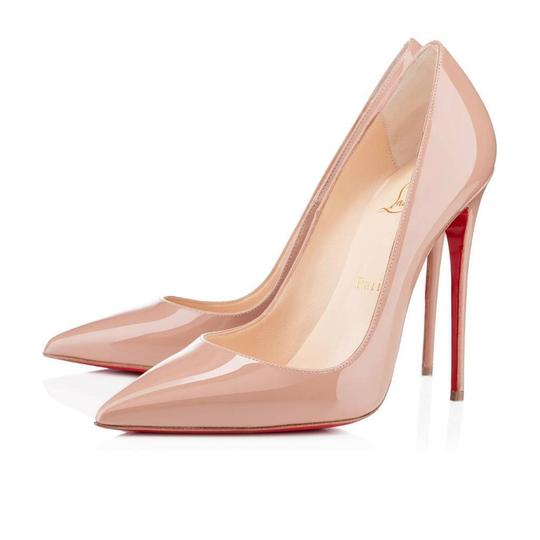 Christian Louboutin Heels Stiletto So Kate Patent Nude Pumps Image 6