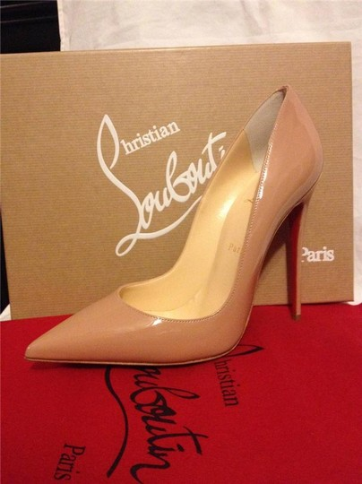 Christian Louboutin Heels Stiletto So Kate Patent Nude Pumps Image 7