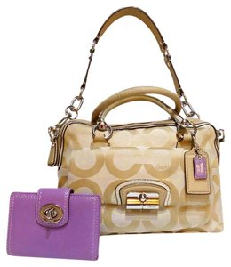 Coach Op Art Signature Kristin Satchel in Signature khaki