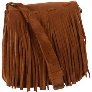 Minnetonka Suede Fringe Hem Cross Body Bag