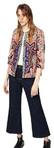 Zara Embroidered Embroidered Jacket Jacket Top Multi