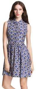 Kate Spade Silk Pockets Geometric Dress