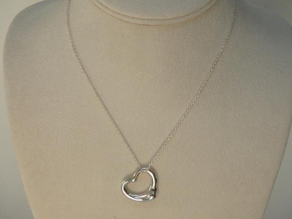 Tiffany co silver elsa peretti 22mm open heart pendant in elsa peretti 22mm open heart pendant in sterling silver 16 12345678 aloadofball