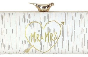 Kate Spade Ivory and Gold Clutch