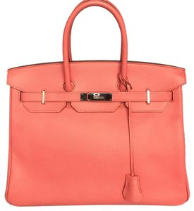 Hermès Satchel in pink flamingo