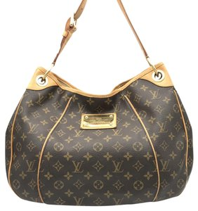 Louis Vuitton Monogram Canvas Galliera Leather Designer Shoulder Bag