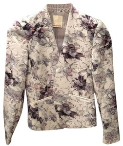Rebecca Taylor white with floral print Blazer